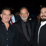 Luis Maio, Ricardo Fazzini e Luciano Krob, da secretaria de Turismo de Ilhabela