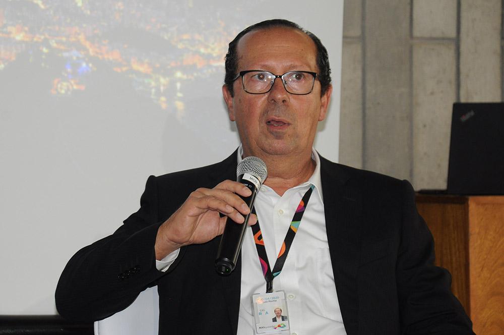 Luiz Rocha, presidente do RIOgaleão, foi o anfitrião da cerimônia histórica