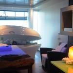 Mais uma sala de tratamento do spa do MSC Fantasia