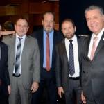 Manoel Linhares, da ABIH, Toni Sando, da SPCVB, Eduardo Sanovicz, da ABEAR, Guilherme Paulus, da GJP, e Alexandre Sampaio, da FBHA
