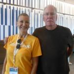 Mara e Alan, do Visit Orlando, acompanham o grupo durante toda a viagem