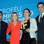 Marcus, Marta e Eduardo, com Ingrid Davidovich, diretora da New Age