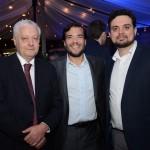 Mario Carvalho, da Tap, com Marcelo Bento e Douglas Pacheco, da Azul