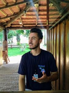 Mateus Oliveira, recepcionista da Fazenda São Geraldo
