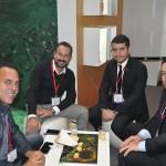 Miguel Gomes e Gustavo Cavallaro, da Expo Mundo, com Paulo Neves e Diego Feijó, da Embratur