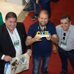 Mustafá Dias, da secretaria de Turismo, Esporte e Lazer de Recife, Guilherme Paulus, da GJP, e Adailton Feitosa, diretor da Empetur