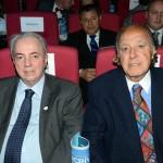 Nilo Felix, presidente de honra do Fornatur, e Michel Tuma Ness, da Fenactur