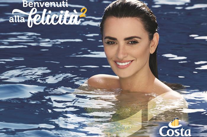 Penélope Cruz, a sereia da nova campanha publicitária da Costa Cruzeiros (Divulgação)