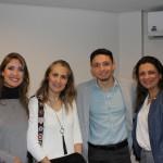 Pricilla Souza, da Azul, Pati Figueiredo, da Sakura, Luis Pauler, da Azul, e Regina Almeida, da Confiança