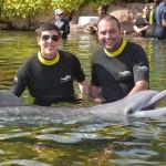 Ralyson Adyson, da Aerotur, com Leandro Roberto, da Visual Turismo
