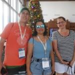 Ralyson Soares, da Aerotur, Valquíria Schincariol, da Aton Turismo, e Regina Santos, da Trade tours