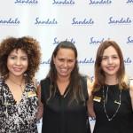 Raquel Queiroz, do Sandals, Débora Freitas, da TM Travel e Renata Salinas, do Sandals