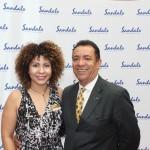 Raquel Queiroz, do Sandals, e Roberto Silva, da Sanchat Tour