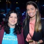 Renata Martins e Luana Ribas, da secretaria de Turismo do Rio Grande do Sul