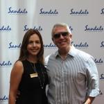 Renata Salina, do Sandals, e Julio Ribeiro, da Soul Traveler
