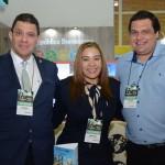 Rene Contreras e Magnolia Garcia, da Repúbica Dominicana, e Lucas Andrés Sebastián, do Be Live Hotels