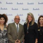 Representantes da Sandals e Catia Frias da American Airlines