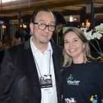 Ricardo Alves, da Velle, e Elenice Rimold, da Voucher Operadora