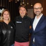 Ricardo Amaral, da R11, com Fernanda Doria e Diego Rodriguez, do Magic Village