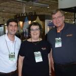 Ricardo Jimenez, da Gol, Laura Yanez, da Personal Operadora, e Peter Weber, da Sky Team Consolidadora
