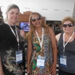 Roberta Vieira, da Orinter, com Joseane Nascimento e Rosana Chagas, da RCA