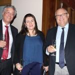 Rodrigo Tavolari e Jose Cunha Filho, da Tumlare, e Maria Corinaldesi, da Rail Europe