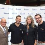 Silvio Paez, do Sandals, Jorge Souza, da Orinter, Catia Frias, da American Airlines, e Roberto Sanches, da Orinter