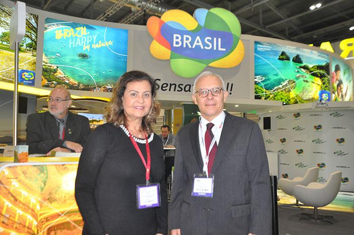 Teté Bezerra, presidente da Embratur, Fred Arruda, embaixador do Brasil no Reino Unido
