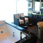 Uma das salas de tratamento do spa