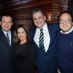 Valter Patriani, Claiton Armelin e Fabio Gordilho, da CVC Corp, e Claudete Patriani