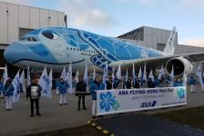 All Nippon Airways recebe 1° A380 com pintura de tartarugas do Havaí