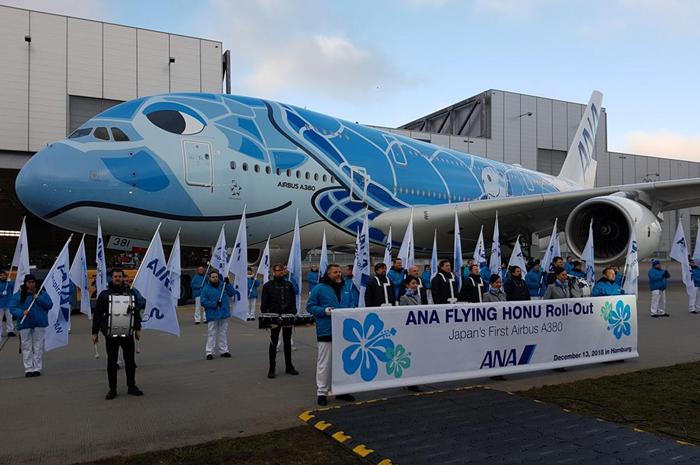A companhia aérea receberá o primeiro A380 no final do primeiro trimestre de 2019 e operará o avião na popular rota de lazer Narita (Japão) - Honolulu (Havaí)