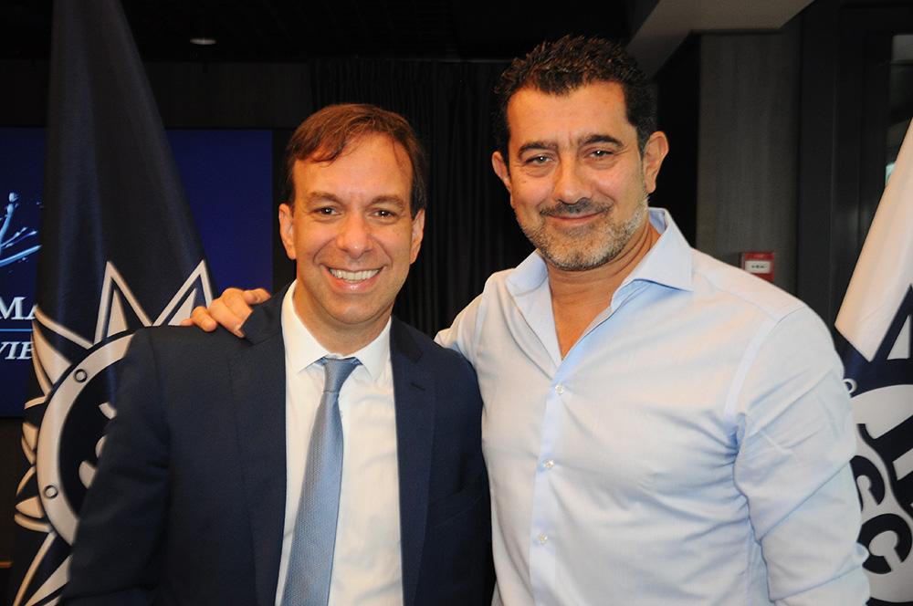 Adrian Ursilli, diretor geral da MSC no Brasil, e Gianni Onorato, CEO da MSC