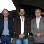 Agenor Maia, Tiago Diniz e Lais Amaral, da Prefeitura de Resende