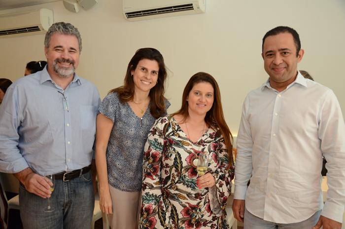 Alexandre Amaral, da Magic Blue Turismo,  Maria Camila Alcorta, do Pegasus, Joice Lopes e Paulo Cesar, da Magic Blue Turismo