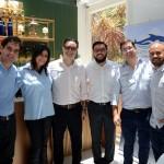 Aline Anzzelotti, Mauricio Alexandre e Martin Diniz, do SeaWorld, com Fernando Nobre, Alexandre Pereira e Fabiano Araújo, da RCA