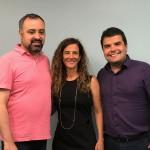 Anderson Masetto, editor do M&E, com Jane Terra e André Almeida, do Visit Orlando