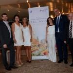 André Sena, da Latam, Carolina Dias, Renata Vuono e Renata Cohen, do Turismo de Israel, Yossi Avraham Shelley, embaixador de Israel, e Dori Goren, cônsul de Israel