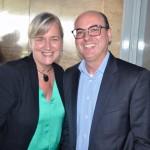 Anete Tauber, da Lufthansa, e Fabio Mader, da CVC Corp