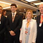 Bob Santos, do MTur, Marcelo Álvaro, futuro ministro do Turismo, Vanessa Mendonça, do MTur, e Herculano Passos, da Frentur