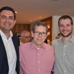 Carlos Antunes, da Alitalia, Cassio Oliveira, da Ancoradouro, e Leonardo Mello, da Passaredo