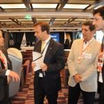 Carlos Prado, da Abracorp, Adrian Ursilli, da MSC, Rogério Siqueira, do Beto Carrero, e Marcelo Álvaro, futuro ministro do Turismo