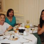 Celia Raposo, da Welys Tour, Socorro Brito, da Blumon, e Alessandra Araujo, da Flexa Viagens