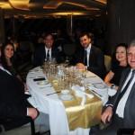 Claiton Armelin, da CVC, com sua esposa Patrícia Amaral, Adrian Ursilli e Achille Staiano, da MSC, e Edmar Bull, da Copastur, com sua esposa, Maria Celeste