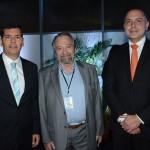 Claudio Tinoco, secretário de Turismo de Salvador, Alberto Fajerman e Claudio Neves Borges, da Gol
