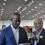 Steven Martina, ministro do Desenvolvimento Econômico de Curaçao, e José Roberto Maluf, presidente do Grupo Spring, durante cerimônia de abertura