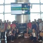 Agentes e operadores também participaram da cerimônia e embarcaram no voo inaugural para Curaçao