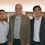 Daniel Castanho, da Ancoradouro, Ralf Aasmann, da AirTKT, e Rodrigo Sienra, da Delta