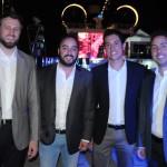 Daniel Ersinzon, da Multi Tour, André e Bruno Vasconcellos, da GW Travel, e André Vieira, da Snow