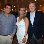 Dante Campos, da Braztoa, Renata Vuono, do Turismo de Israel, e Frederico Levy, da Interpoint